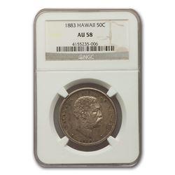 1883 Hawaii Half Dollar Kalakaua I AU-58 NGC