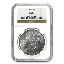 1897 Morgan Dollar MS-64 NGC