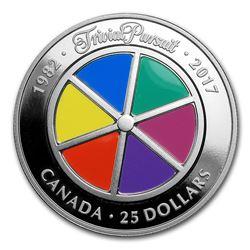 2017 Canada 1 oz Proof Silver $25 Trivial Pursuit