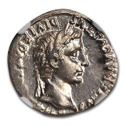 Roman Silver Denarius Emperor Augustus (27 BC-14 AD) MS NGC