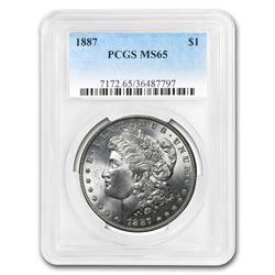 1887 Morgan Dollar MS-65 PCGS
