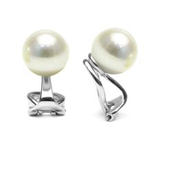 White South Sea Pearl Clip-On Earrings