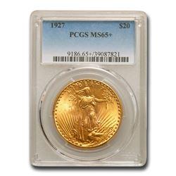 1927 $20 St. Gaudens Gold Double Eagle MS-65+ PCGS