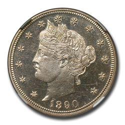 1890 Liberty Head V Nickel PF-64 Cameo NGC