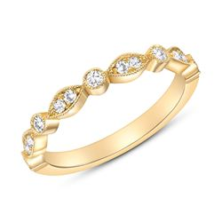 Natural 0.27 CTW Round Diamond Ring 14KT Yellow Gold