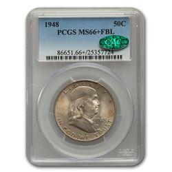 1948 Franklin Half Dollar MS-66+ PCGS CAC (FBL)
