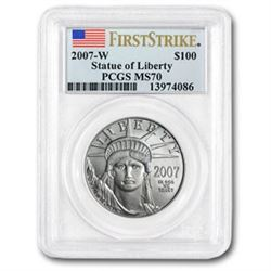2007-W 1 oz Burnished Platinum American Eagle MS-70 PCGS (FS)