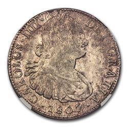 1807 Mo-TH Mexico Silver 8 Reales Charles IV MS-62 NGC