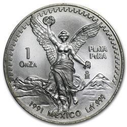 1991 Mexico 1 oz Silver Libertad BU (Type 2)