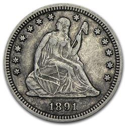 1891-S Liberty Seated Quarter XF