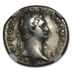 Roman Silver Denarii Emperor Domitian (81-96 AD) VF NGC