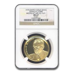 Gerald R. Ford Inauguration Medal Medallic Art Co. MS-67 NGC