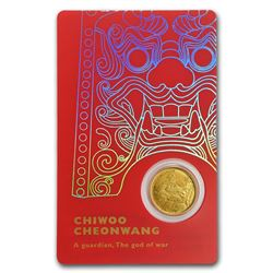 2018 South Korea 1/10 oz Gold 1 Clay Chiwoo Cheonwang BU (Red)