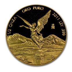 2011 Mexico 1/2 oz Proof Gold Libertad