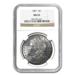 1887 Morgan Dollar MS-65 NGC