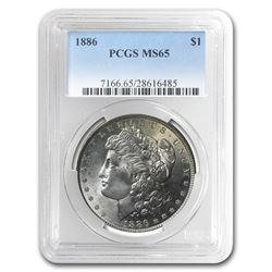 1886 Morgan Dollar MS-65 PCGS