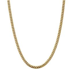 14k Yellow Gold 5 mm Solid Miami Cuban Chain - 22 in.