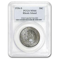 1936-S Rhode Island Half Dollar MS-66 PCGS