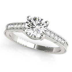 Natural 1.20 ctw Diamond Antique Ring 14k White Gold