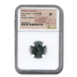 Roman Empire AE 16 Gaius Caesar (12 BC-4 AD) XF NGC
