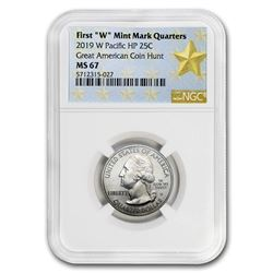 2019-W ATB Quarter War in the Pacific MS-67 NGC