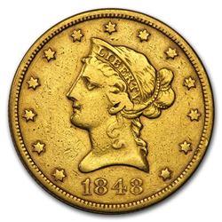 1848 $10 Liberty Gold Eagle VF