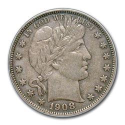 1908-D Barber Half Dollar AU-50 PCGS