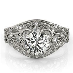 Natural 0.87 ctw Diamond Antique Ring 14k White Gold
