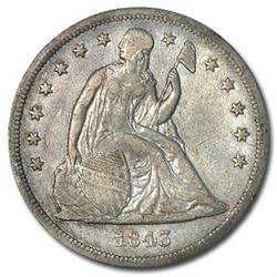 1843 Liberty Seated Dollar XF
