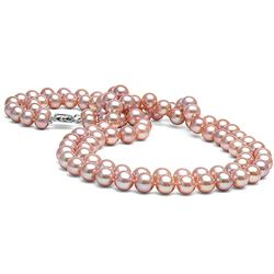 "Pink Freshwater 18/19"" Double-Strand Pearl Necklace, 8.5-9.0mm"