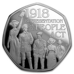 2018 GB 50p Silver Proof Representation of the People Piedfort