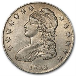 1835 Capped Bust Half Dollar AU Details (Cleaned)