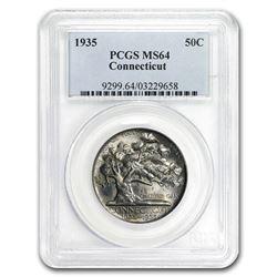 1935 Connecticut Half Dollar MS-64 PCGS
