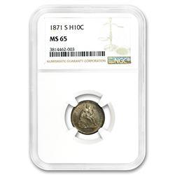 1871-S Liberty Seated Half Dime MS-65 NGC