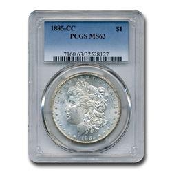 1885-CC Morgan Dollar MS-63 PCGS