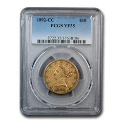 1892-CC $10 Liberty Gold Eagle VF-35 PCGS