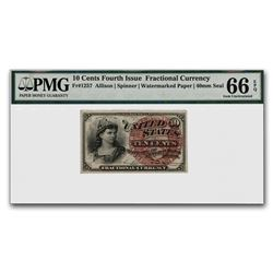4th Issue Fractional Currency 10 Cents CU-66 EPQ PMG (FR#1257)