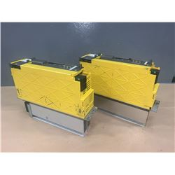 (2) - FANUC A06B-6127-H207 aiSV 40/40HV  SERVO DRIVES (CRACKED PLASTIC CASING)