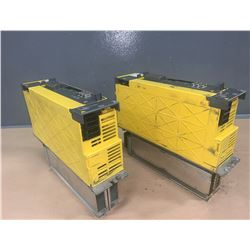 (2) - FANUC A06B-6114-H211 aiSV 160/160 SERVO DRIVES