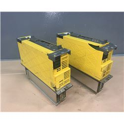 (2) - FANUC A06B-6124-H209 SERVO AMPLIFIER MODULE (CRACKED CASING)