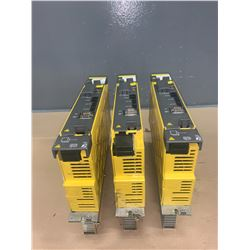 (3) - FANUC A06B-6114-H105 aiSV 80 SERVO DRIVES