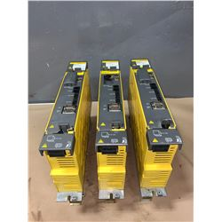 (3) - FANUC A06B-6114-H106 aiSV 160 SERVO DRIVES