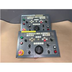 (2) - FANUC / OKUMA KEY PADS WITH MANUAL PULSER (SEE PICS)