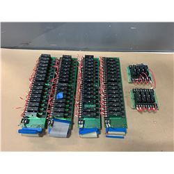 LOT OF CIRCUIT BOARDS WITH POTTER & BRUMFIELD RELAYS