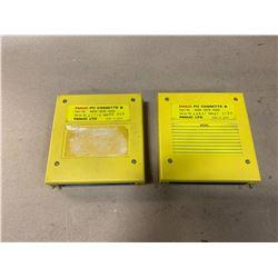 (2) - FANUC A02B-0076-K002 PC CASSETTES