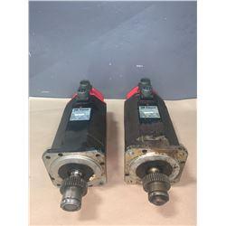(2) - FANUC A06B-0314-B002#7000 AC SERVO MOTORS MODEL 5S
