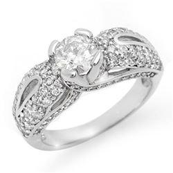 1.90 ctw Certified VS/SI Diamond Ring 18k White Gold - REF-274G5W