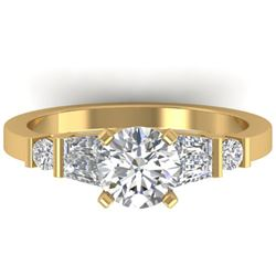 1.69 ctw Certified VS/SI Diamond Solitaire Ring 14k Yellow Gold - REF-343X6A