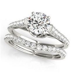 1.79 ctw Certified VS/SI Diamond 2pc Wedding Set 14k White Gold - REF-313K6Y
