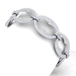 10 ctw Certified VS/SI Diamond Bracelet 18K White Gold - REF-772Y5X